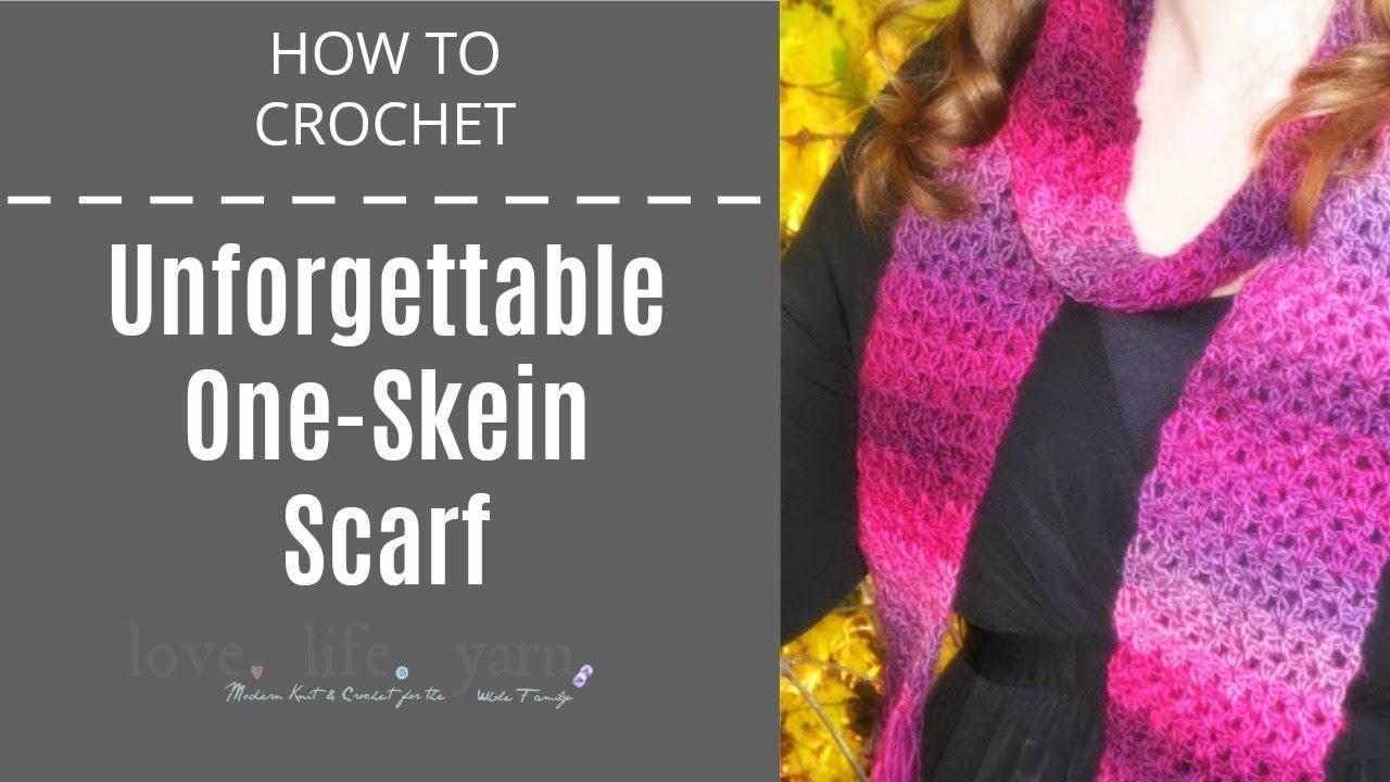 How to Crochet Unforgettable One Skein Scarf