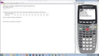 Finding the Correlation Coefficient and the Equation of the Best Fit Line Using the TI-84 (LinReg)