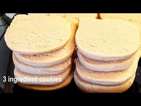 Butter Biscuits  3 Ingredients Cookies   बटर बिस्किट्स   Eggless Sugar Cookie    Atta Biscuit
