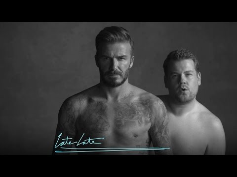 David Beckham and James Corden's New Underwear Line video