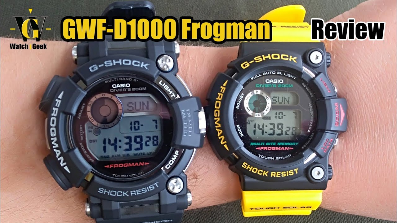 GWF D1000 G Shock Frogman review