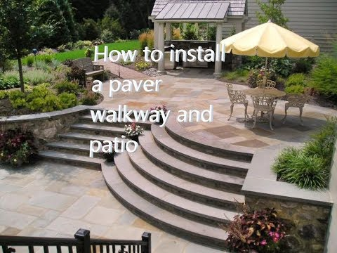 How To Install A Paver Walkway And Patio