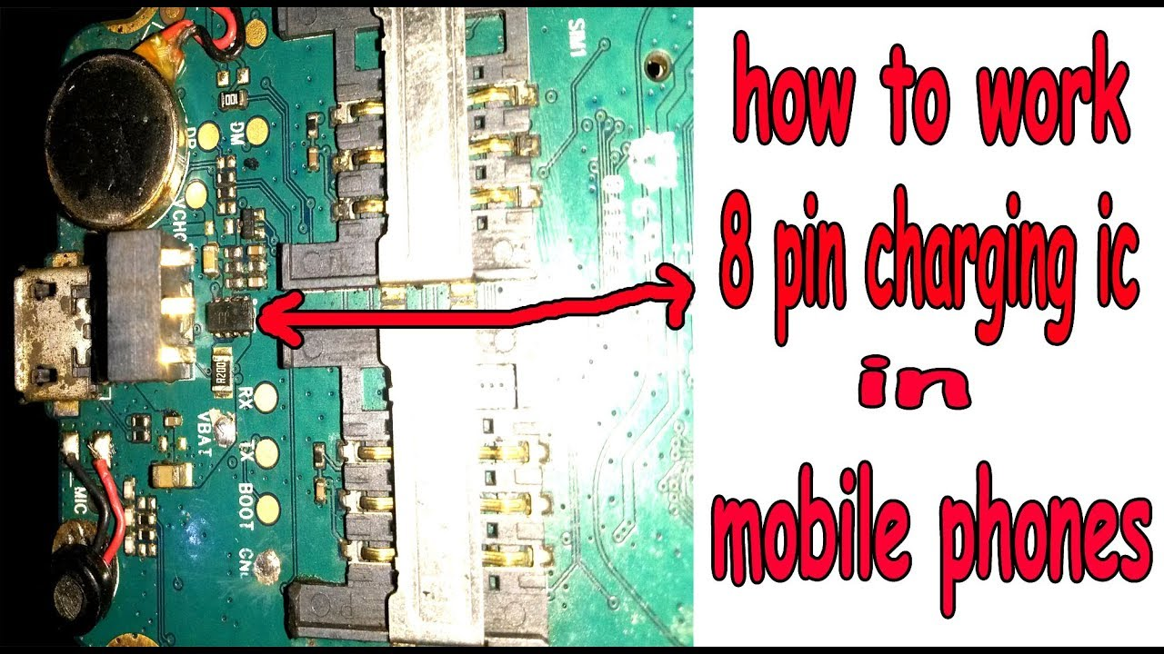 how to work 8,pin charging ic in mobile phones