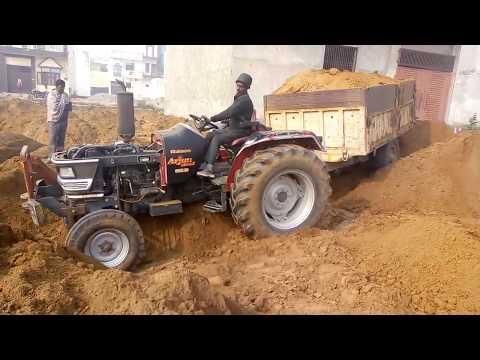 Mahindra Arjun 605 Tractor Stuck With Soil Trolley