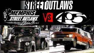 Street Outlaws Battle Farmtruck vs JJ da Boss Ole Heavy at the Memphis Street Outlaws no prep