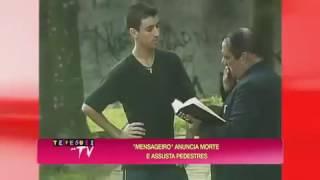 Pegadinha do João Kléber  Marquinhos, 'O Mensageiro da morte' assusta pedestres