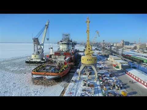 Строительство ледокола «Александр Санников» | Газпром Нефть и Выборгский судостроительный завод