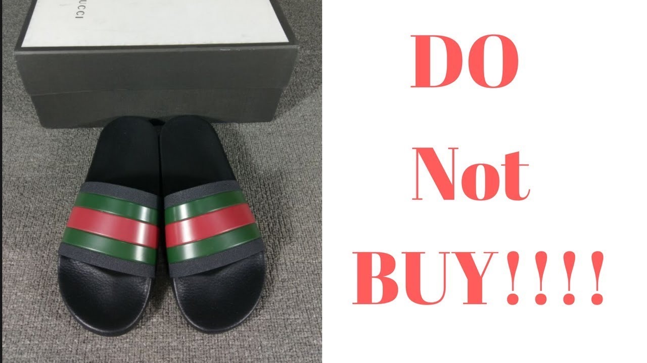 88371b9b873 NEVER BUY GUCCI SLIDES BEFORE WATCHING THIS VIDEO