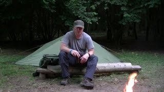 Nearly Wild Camping location reviewing a Yellowstone Alpine 2 tent