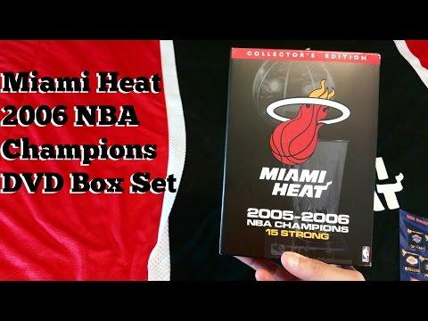 Miami Heat 2005-2006 NBA Champions DVD Box Set Unboxing