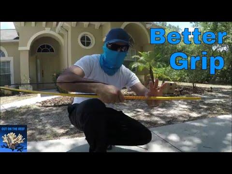 Hawaiian Spear Slingshot Better Grip Spearfishing DIY