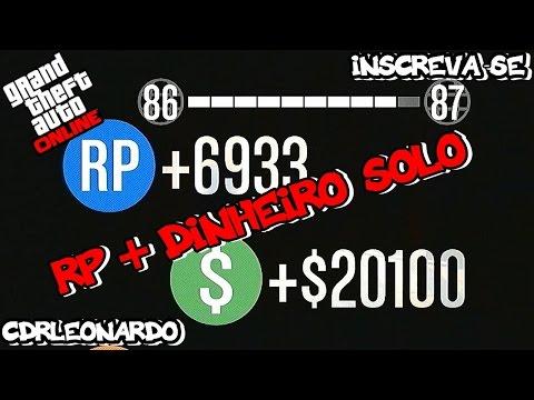 GTA V Online 1.18 - RP + DINHEIRO HONESTO SOLO - RP+6933 +$20100.