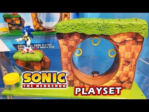Sonic The Hedgehog Green Hill Zone Playset Articulated Figures Jakks Youtube