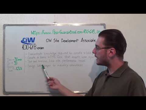 1D0-61B – CIW Exam Site Development Test Associate Questions