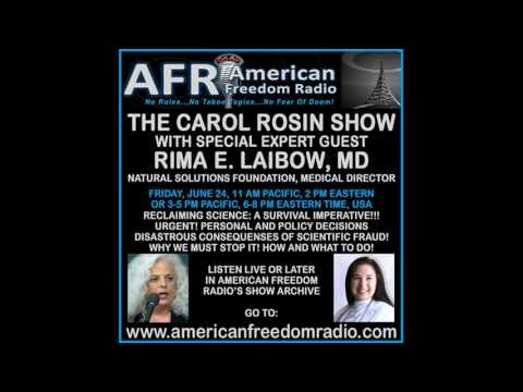 Science Fraud Truth & Updated Facts For Survival: Rima Laibow, MD w/Carol Rosin