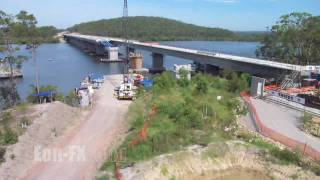 Time-lapse Of The Karuah Bypass Incrementally Launched Bridge Construction