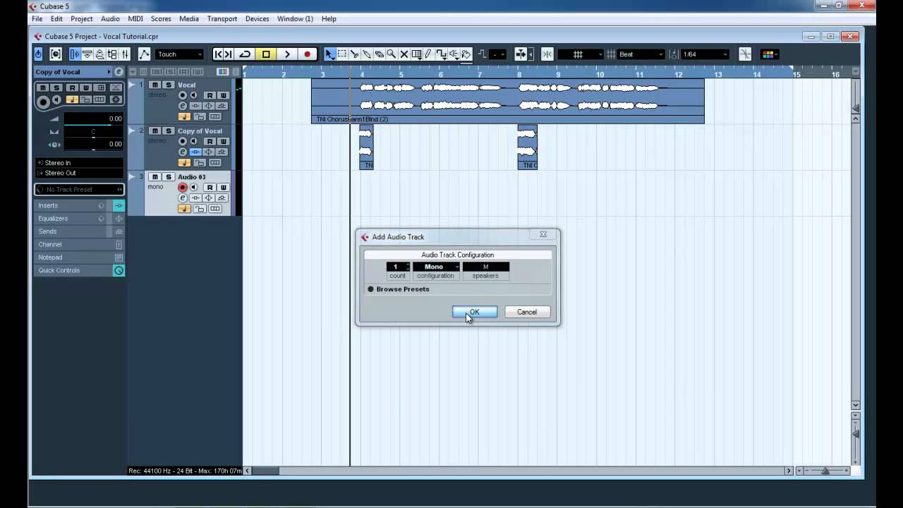 How to effacts sending in vocals cubase new tutorial 2018 by khan.