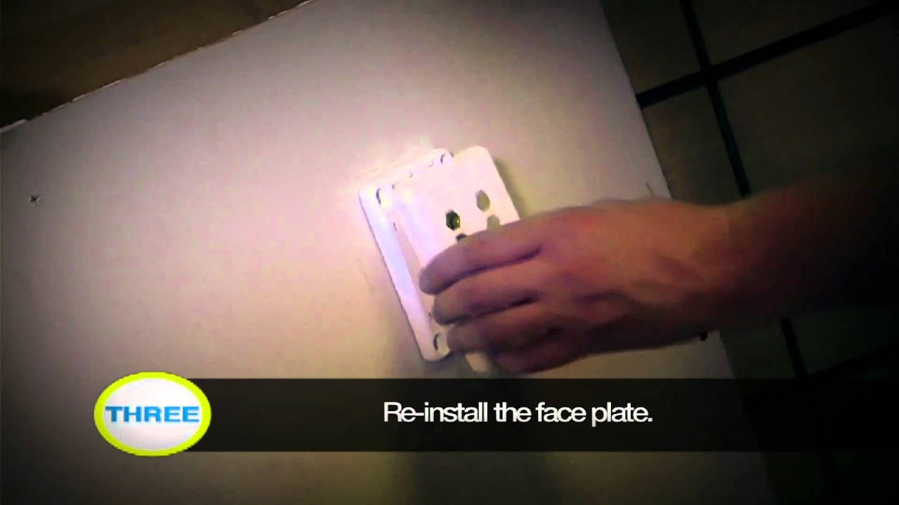 How To Install Audio Video Wall Plates Youtube Le Grand Plate Ethernet Wiring