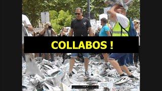 E 13 Manif / Protest Perpignan, France, 21/8/2021 L'Indépendant Accusé Collaboration