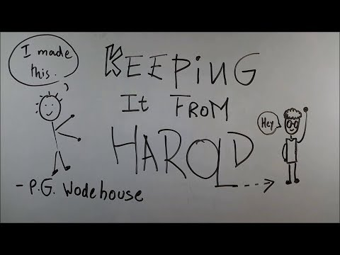 Keeping It From Harold - ep01 - BKP | cbse class 9 english | by p g wodehouse  | explanation