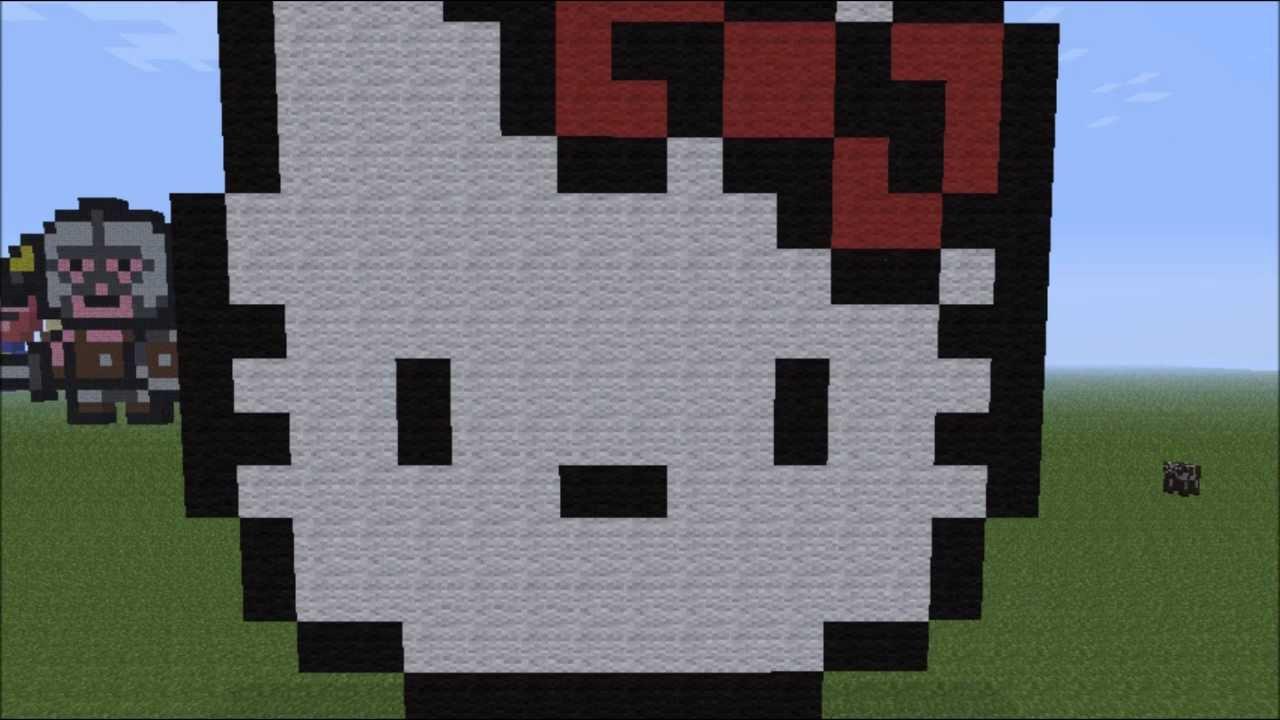 Minecraft Pixel Art Ep 14 Hello Kitty HD