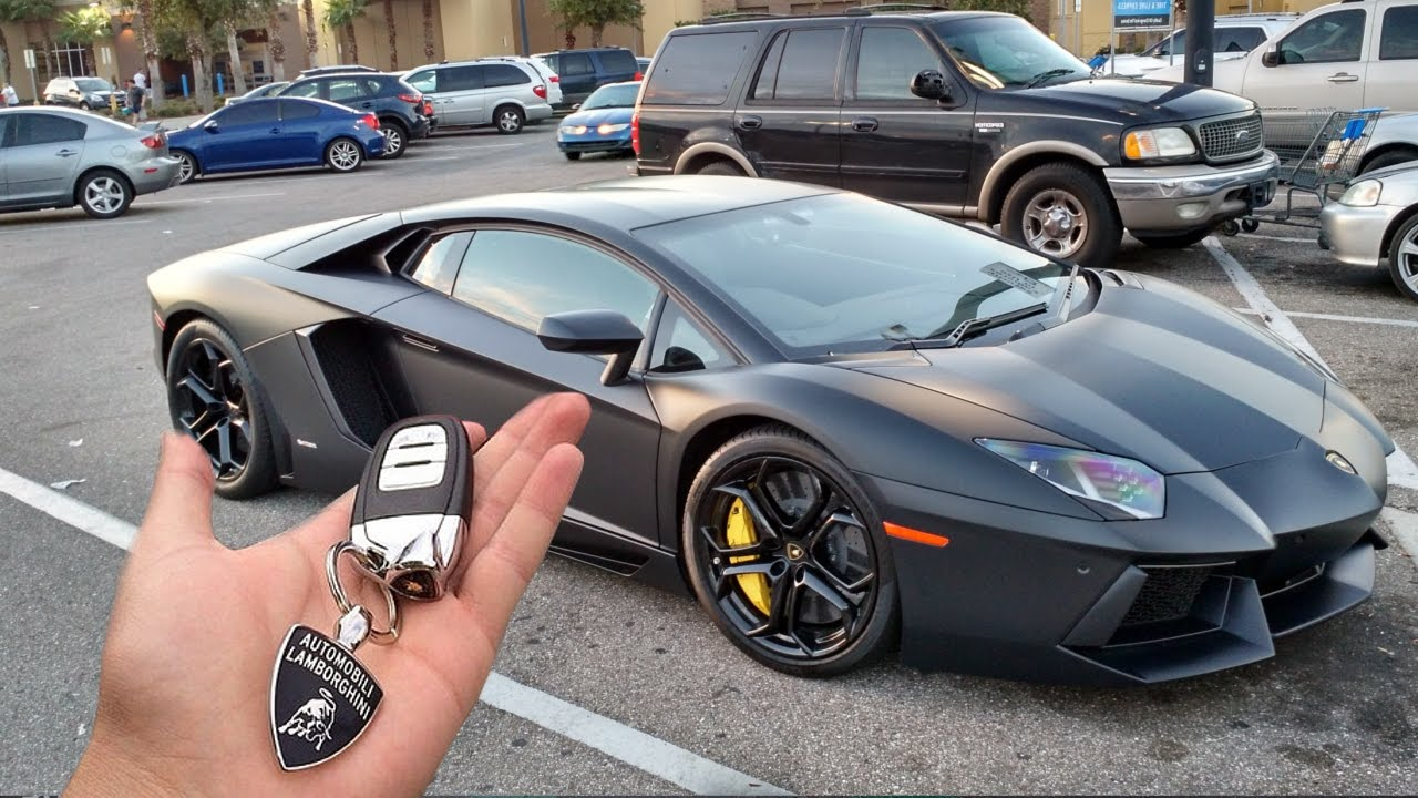 my dad bought me a lambo for my first car youtube