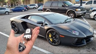 my dad bought me a lambo for my first car..