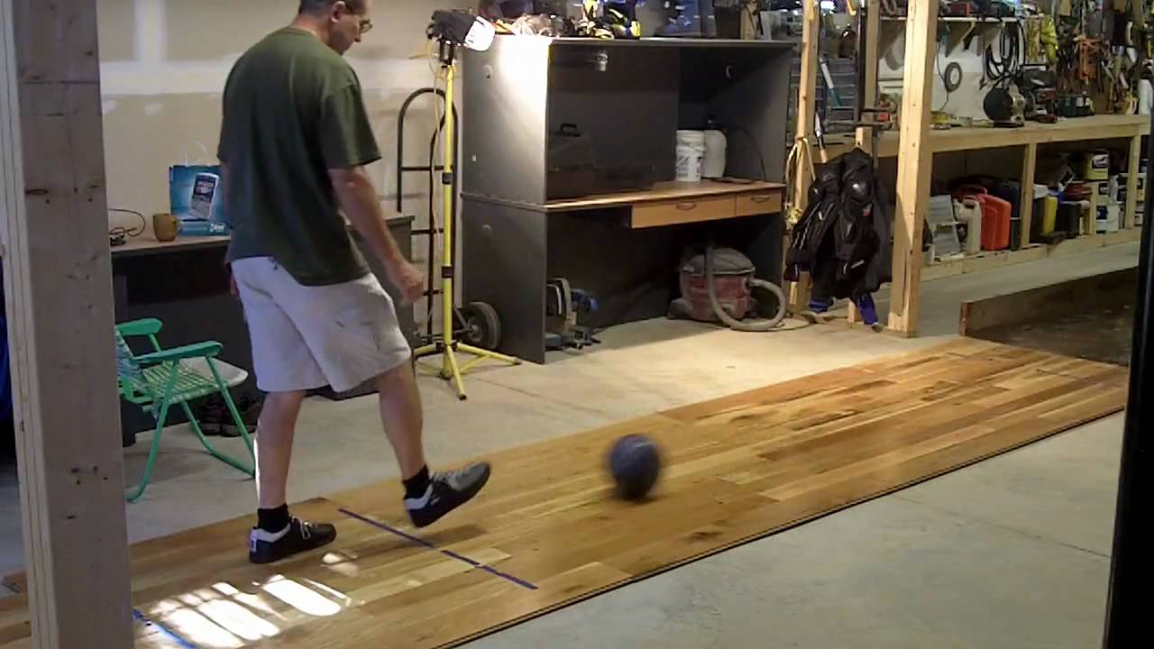 Basement Bowling Hit Your Mark Homemade