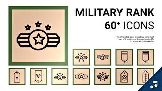 Military Rank - Animated Icon Set | After Effects template