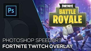 Fortnite Twitch Overlay | Photoshop Speedart | Free Download | German | Wildfire Graphics