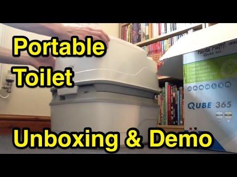 Portable Toilet Unboxing + Demo Thetford Porta Potti Qube 365