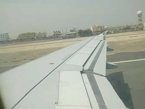 Take off in Gulf Air from Bahrain International Airport