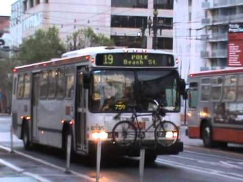 Muni bus and trackless 1 youtube for Cabin bus san francisco