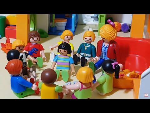 playmobil-film-deutsch🎬wollen-kinder👬-einen-erzählkreis🎎👬-bilden?😱-familie-wurst🌭kinderweltfun