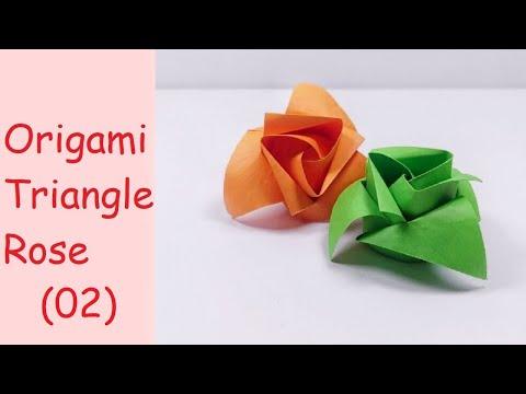 Mothers Day Gift Origami Rose   DIY Paper Crafts   DIY Handmade   Masahiro Ichikawa
