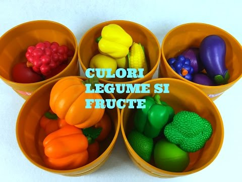 Invatam in ENGLEZA Culorile  Legume si Fructe Asortare - Educativ Let's Learn English