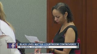 Attorney wears Black Lives Matter pin to court again