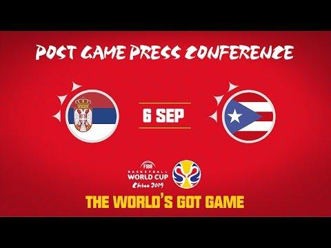 Serbia v Puerto Rico - Press Conference - FIBA Basketball World Cup