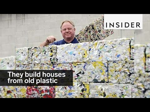 This company is building houses from old plastic