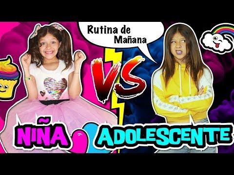 🎀 ¡¡NIÑOS VS ADOLESCENTES en la ESCUELA!! 📚 RUTINA DE LA MAÑANA de PRIMARIA vs SECUNDARIA