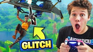 *RIDICULOUS* SHOOTING WHILE FLYING GLITCH in Fortnite Battle Royale