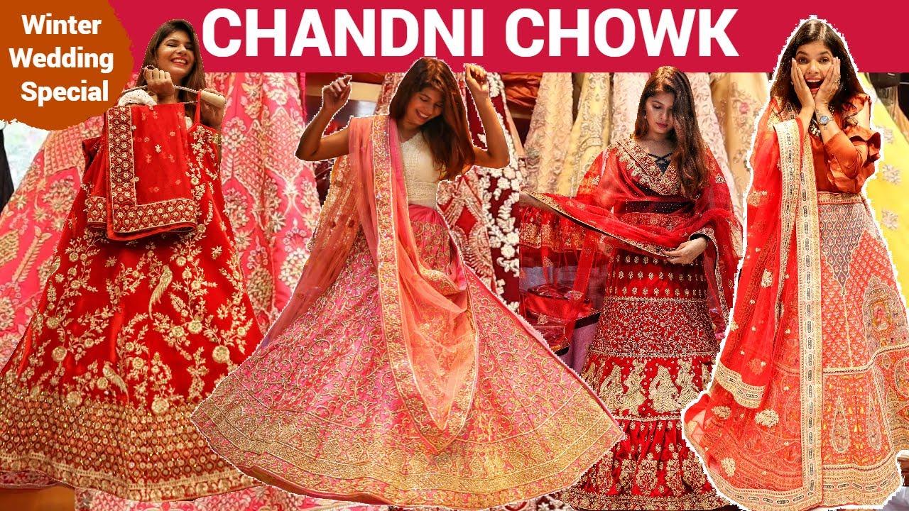 Cheap to Expensive Bridal Lehenga Shopping! Chandni Chowk Lehenga Market    चांदनी चौक लहंगा मार्केट