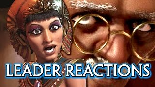 Civilization 6 🌟 All Leaders Cutscenes of Reacting to War & Meeting the Player
