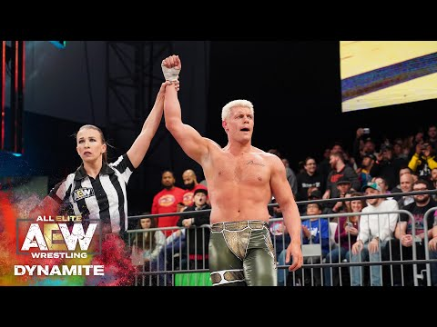 AEW DYNAMITE HOMECOMING   CODY PICKS UP HIS FIRST WIN IN 2020 OVER DARBY ALLIN