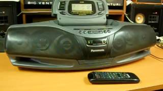 Panasonic RX DT75 Cobra - Top Radio Cassette Recorder Boombox Ghettoblaster