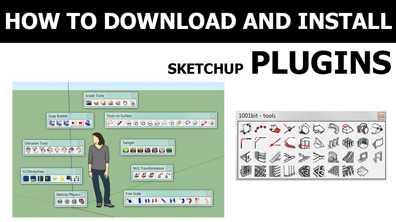 [Sketchup Tutorial] How to install sketchup plugins
