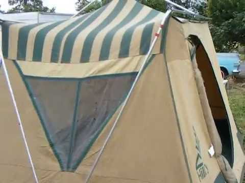 & For Sale Vintage Hillary Canvas Tent model 308.77186 - YouTube