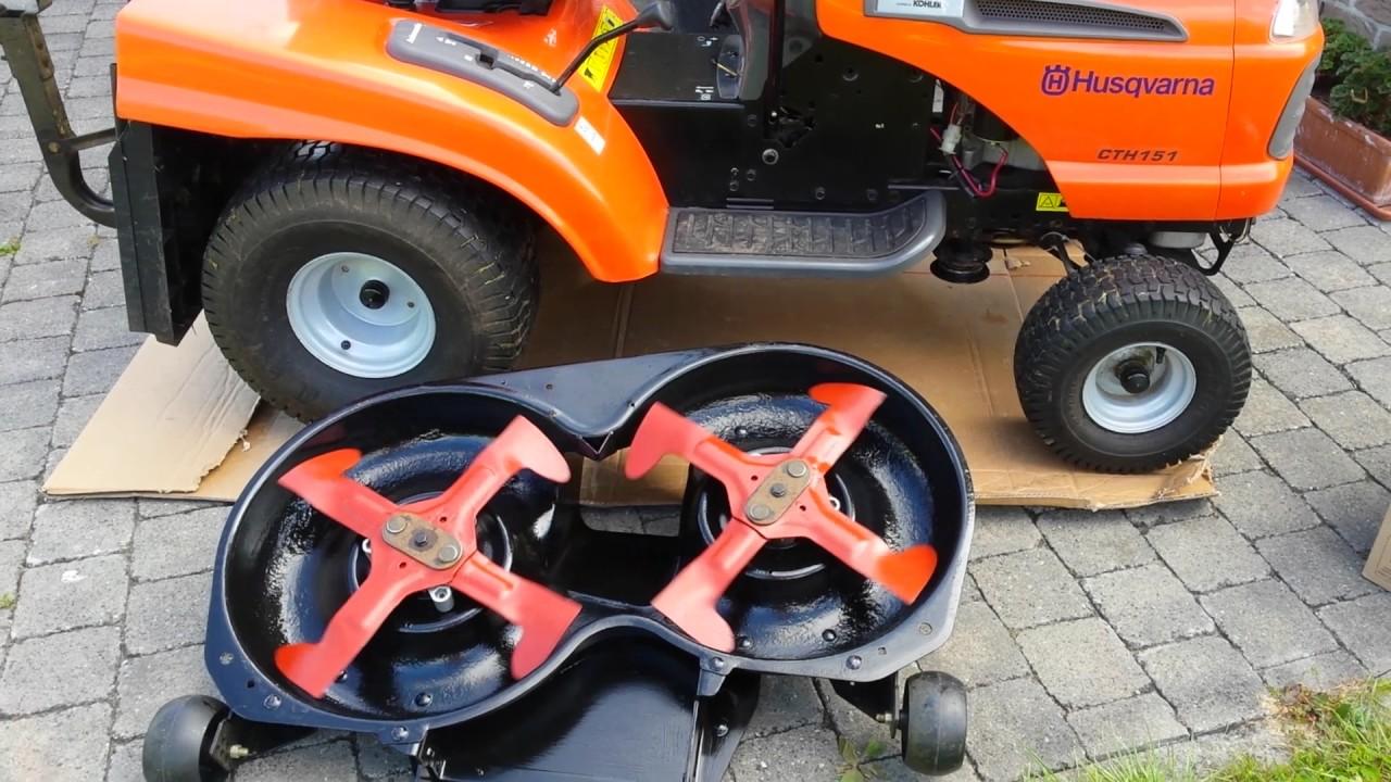 tracteur tondeuse husqvarna cth151 apr s changement des. Black Bedroom Furniture Sets. Home Design Ideas