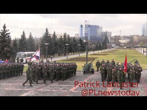 Parade for anniversary of the First Army Corps Donetsk People's Republic