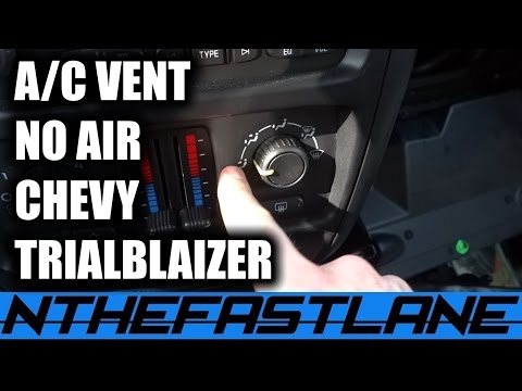 "A/C Vents: Not Working ""FIX""06 Chevy Trailblaizer"